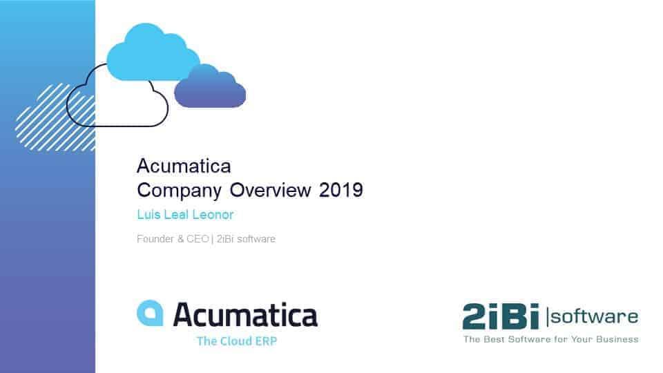 Acumatica Company Overview Focused Content For E200 Presentation.2019