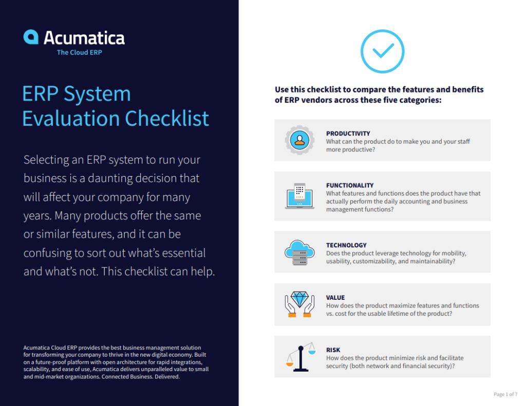 ERP System Evaluation Checklist